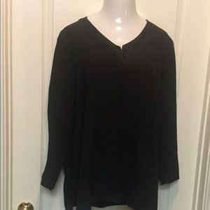 Liz Baker Womens Size 16 Long Sleeve Button Front